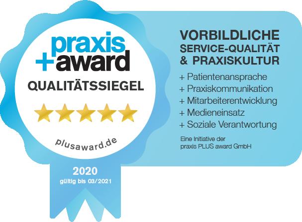 Kieferorthopädin Bonn - Gröne - Siegel praxis award